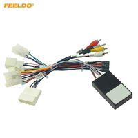 Feeldo carro estéreo estéreo 16pin android power fiação cabo adaptador cabo com canbus para subaru xv / crosstrek (2017 +) / Forester (17-19) # 6556