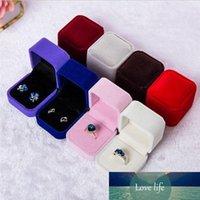 Mode (Schwarz, Rot, Weiß Grau Blau) Geschenk-Box für Ring-Ohrring-Kasten-Halter-Schmuck-Box, Display Verpackungsschachtel