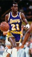 Jersey de basketball de première qualité 21 # Michael Cooper Basketball Jersey Hot Pressing Numéro de nom imprimé Taille américaine authentique