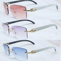 Mavi Carter Erkek Güneş Gözlüğü Moda Sonnenbrille Erkekler için Çerçevesiz Tasarımcı Güneş Gözlükleri Buffalo Boynuz Gözlük Gafas De Sol de Diseñador