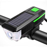 Energia solare eccellente luminoso biciclette fari luci anteriori del LED antipolvere Sport Equitazione Attrezzature e accessori