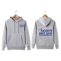 Style vintage Keith Scott Body Shop Sweat à capuche un arbre colline voiture mécanicien Keith Scott Body Shop Hoodie Sweatershirt CX200807