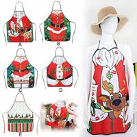 Christmas Kitchen Aprons for Woman X mas Decoration Aprons for Adults Women Men Dinner Party Cooking Apron Baking Accessories