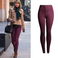 Dames Hoge Taille Tight Jeans Push-up Hip Potlood Lift Skinny Super Stretch Denim Broek Korea Kleding Rolde Candy Jean Broek