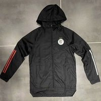 Erwachsene 20 21 Algerien-Fußball Hoodie-Jacken Windjacke 2020 2021 Pullover Sakkos mit Kapuze Reißverschluss Wintermantel Lauf Herren Jacken