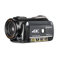 Ordro Caméra vidéo 4k Caméscope Full HD IR Night Vision Ordro AC3 30x Zoom numérique Vlog caméra pour les vidéos YouTube