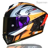 Tam yüz shoei x14 homda motosiklet kask anti-sis vizör adam sürme araba motocross yarış motosiklet kask-değil orijinal kask