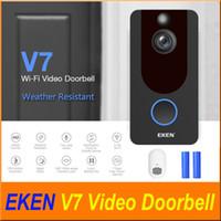 Eken V7 HD 1080p Smart Home Video Türklingel Kamera Wireless WiFi Echtzeit Telefon Video Cloud Aufbewahrung Nachtsicht Pir Bewegungserkennung