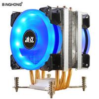 Binghong 4 Heatpipe Cooler LGA 775 115x 1366 AMD3 AM4 X79X99 unidade de processamento central 2011 Computadores arrefecimento Fan CPU dissipador de calor
