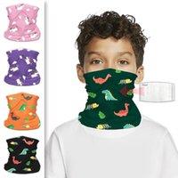 US Stock Maski rowerowe dla dzieci z PM2.5 Filtr Magiczny Szalik Cartoon Animal Bandana Szaliki Motocyklowe Outdoor Headscarf Neck Maska Fy7144