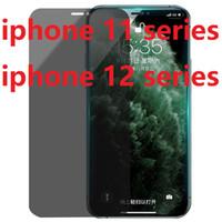 Anti Spy Film de protection écran pour Apple iPhone 12 Pro Max iPhone 12 Mini 11 Pro Max XR XS Max Privacy Verre Trempé Anti Glare