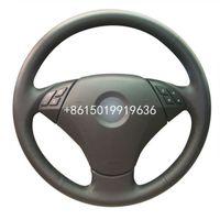 Top Car Steering de couro roda de mão-ponto em Enrole Capa Para BMW Série 5 E60 535 530 523 523li 525 520li 535 545i E60