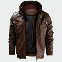 Men' s Leather Jackets Autumn New Casual Motorcycle PU J...