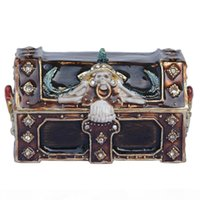 Pirates chest mysterious magic box rhinestone hinged trinket...