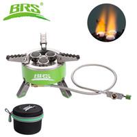 Stufa BRS 4200W gas di campeggio pieghevole esterna portatile Escursionismo picnic Patio barbecue Fornello 3 Fuoco Bruciatori Fonte cucina Forno BRS-73