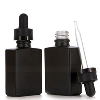 30 ml schwarz mattglas flüssige reagens pipette fallflaschen quadrat ätherisches öl parfüm flasche rauch öl e flüssige flaschen dhb1437