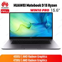 Huawei MateBook D 15 2020 Laptop 15,6 polegadas AMD Ryzen R5-4500U / R7-4700U 7nm Crafts 16GB DDR4 512GB SSD Windows 10 Pro English