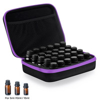 30 Bottles Essential Oil Storage Bag Case Carrying Holder 5 10 15ML Oil Nail Polish Organizer Bag Travel Storage Box