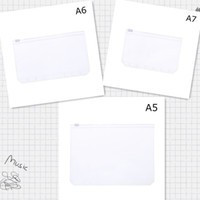 A5 / A6 / A7 PVC 6 حفرة الموثق غطاء فضفاضة ورقة دفتر للماء سستة حقيبة أكياس بطاقة الأعمال للأطفال التعلم ملف مجلد التعليم اللوازم المكتبية
