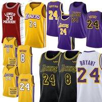 Lebron 23 6 James Jeux Basketball Jersey de Basketball NCAA 2020 Nouveau Jersey Bryant 8 24 33 Carmelo 00 Anthony Ko Blazer
