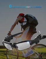Akıllı Gözlük Bluetooth V4 0,1 Sunglass Eller serbest Güneş Cam Spor Kulaklık Mp3 Çalar Bluetooth Telefon Kablosuz Kulaklık Bluetooth Eyeg