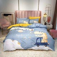Новейшие хлопковые тканые постельные принадлежности Queen размер одеяло 2 подушки