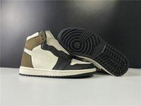 New Exclusive 1 High OG Basketball-Designer-Schuhe Segeldunkel Mokka Schwarz Weiß Mode Sport Schuhe Turnschuhe gute Qualität Schiff mit dem Kasten