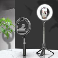 جديد L07 بلوتوث صورة شخصية عصا المحمولة 5 بوصة حلقة ملء ضوء مرساة الجمال ضوء الهاتف المحمول الدعم المباشر