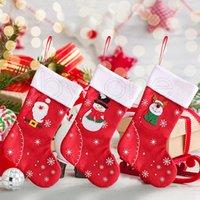 Borsa regalo di Natale Calze Babbo Natale calza natale del fumetto Ornamenti dell'albero di Natale Partito Home Ristorante Albergo Decorazioni di Natale R3456