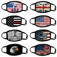 Bandeira Hot American Máscaras Impressão Digital Face Magic Scarf Multifuncional máscara Outdoor Neck banda headband Máscaras Designer # 384
