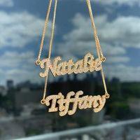3UMeter 2020 New Color Rhinestone Colar Pingente de colar carta de Hop Mulheres Hip conhecido personalizado Bijuterias presente do ouro