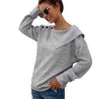 Fashion Knitted Sweater Casual Autumn Winter Ladies Solid Bu...