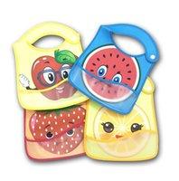 Bébé bébé Babots Burp Tissu nourrissant Anti-sale étanche réutilisable Salive Serviette respectueuse de l'environnement PU mignon fruit bavoir Pinafores E8603