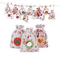 Borse Hanging Mini cute Gift bag Candy pupazzo di Babbo Natale cervi portano Calza della Befana per l'albero di Natale Decor Ciondolo CALDO