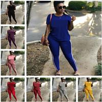 إلكتروني طباعة النساء رياضية قصيرة الأكمام تي شيرت قمم + السراويل طماق قطعتين مجموعة أزياء تي شيرت ملابس الصيف الرياضية البدلة الملابس S-3XL