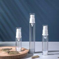 5 10 15ML إفراغ إعادة الملء من البلاستيك الشفاف لوحة من الهواء مضخة فراغ زجاجة مستحضرات التجميل المكياج كريم غسول عينة التعبئة السائل تخزين الحاويات
