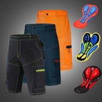 Wosawe sem roupas íntimas acolchoadas Calções de ciclismo correndo acampamento de acampamento de pesca bicicleta downhill shorts diy pad set roupas homens