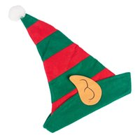 2020 New Arrival Non-Woven Fabrics Hat Red and Green Striped Christmas Hat Cute And Soft Cozy Product