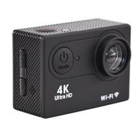 """الرياضة عمل فيديو كاميرات الفيديو فائقة HD 4K H9 كاميرا 30fps wifi 2.0 """"170D ماء الرياضة تسجيل كام"""