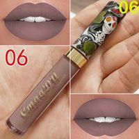 El nuevo maquillaje maquillage CmaaDu Mate 6 colores del lápiz labial líquido a prueba de agua y de larga duración cráneo Tupe Barras de labios Lip Gloss Maquillaje