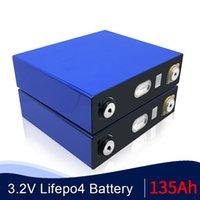 Oye Yeni 4 adet 3.2 V 135Ah Lityum Demir Fosfat Hücre LiFePO4 Pil Güneşi 12 V 24 V 48V135AH Hücreler 120Ah 150Ah AB ABD Vergi Ücretsiz