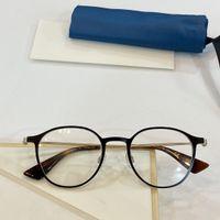 Nova prescrição óculos armação de óculos vidros ópticos 8620 rodada retro armação de metal lente transparente pode ser make prescrição