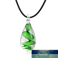 Муранского стекла ожерелье ювелирных Вдохновленный Симпатичные украшения Мини Прозрачное стекло водослива моды для женщин 2019