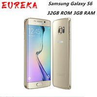 """Samsung Galaxy S6 G920A / T / V G920F olåst mobiltelefon Octa Core 32GB ROM 3GB RAM 16MP 5.1 """"1440 x 2560 Pixlar"""