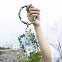 PU pulseira de couro Keychain Coin Keychain redondo Rodada PU Saco da moeda Keychain Mini PU Rodada Cartão Bag Bolsa Chaveiros OOA8463