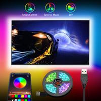 LED TV Retroilumbar Strip DC5V SMD5050 1M 2M 3M 4M 5m cabo USB Cabo Flexível RGB TV TV de TV Bluetooth TV iluminação