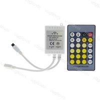 Double contrôleur de couleur DC12 ~ 24V IR 24KE 4PLes télécommande pour CW / WW SMD 5050 5630 5025 LED bande bande DHL