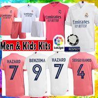 레알 마드리드 Sergio Ramos 위험 Modric Soccer Jersey Benzema Maillot 드 발 베일 축구 셔츠 Marcelo Asensio Kids Kits ISCO Vinicius JR.