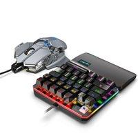 Keyboard Maus Combos Set 35 Tasten Mini USB verdrahtete Tastatur + Wired Gaming Mouses Neun-Key-Makro-Programmierung für Gamer