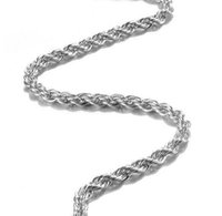 New Chains 925 Sterling Silver Necklace Chains 3MM 16-30 inch Pretty Cute Fashion Charm Rope Chain Necklaceh